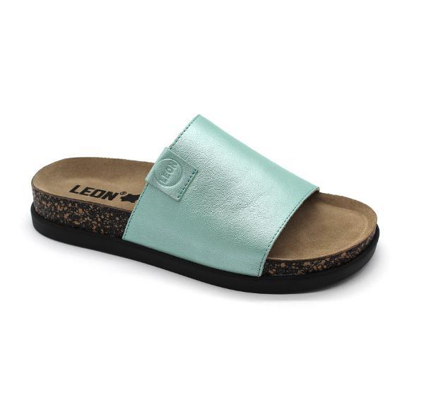 1205 LEON Comfort női bőr papucs