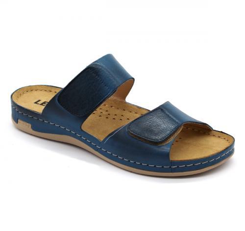 952 LEON Comfort női bőr papucs