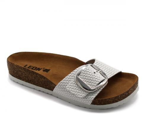 4020 LEON Comfort női bőr papucs