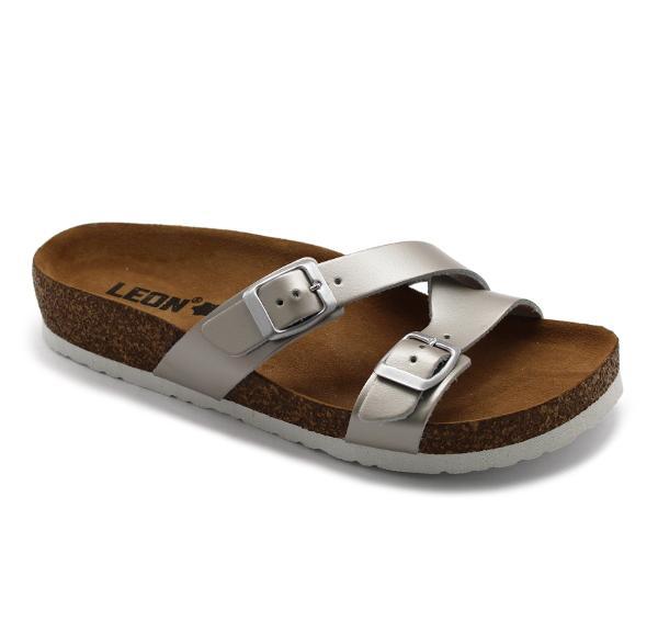 4030 LEON Comfort női bőr papucs