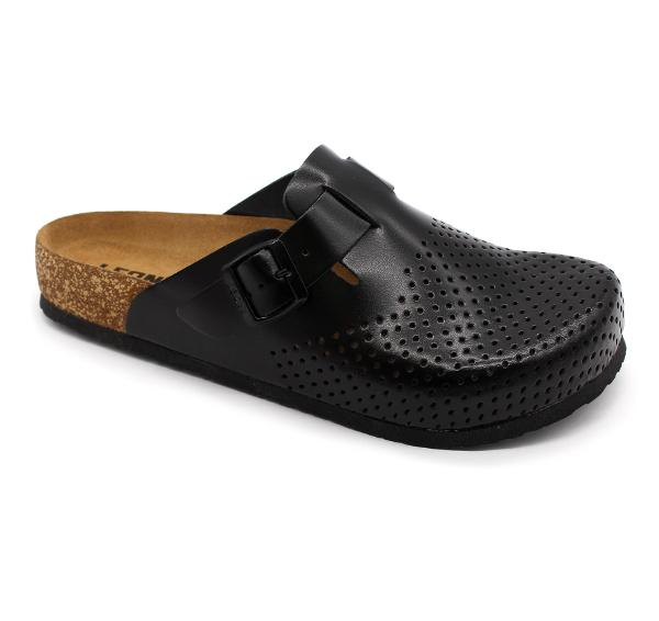 4700 LEON Comfort férfi bőr papucs