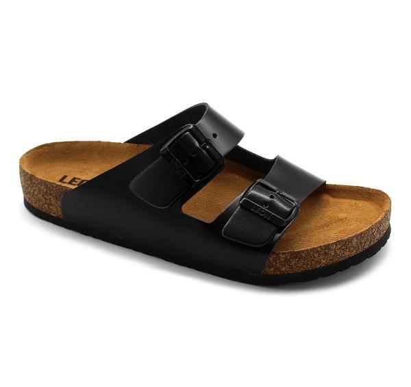 4703 LEON Comfort férfi bőr papucs