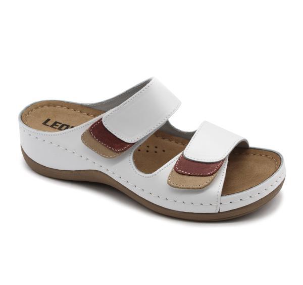 904 LEON Comfort női bőr papucs