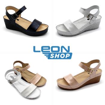 1070 Női bőr szandál | Leon kényelmi papucsok és szandálok