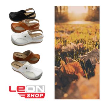 Leon valódi bőr női komfort papucs és szandál