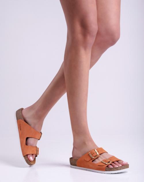 4010 LEON Comfort női bőr papucs
