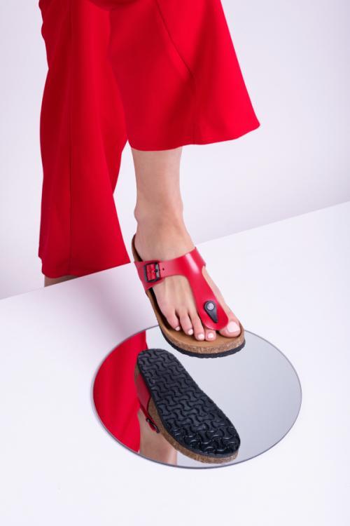 4080 LEON Comfort női bőr papucs
