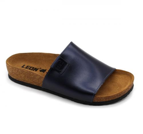 4205 LEON Comfort női bőr papucs