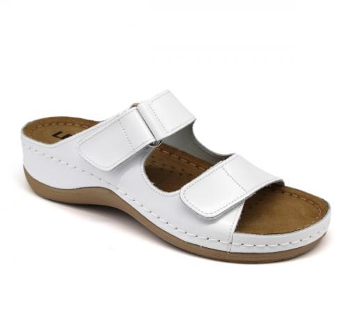 905 LEON Comfort női bőr papucs