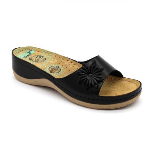 915 LEON Comfort női bőr papucs