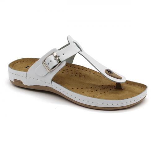 980 LEON Comfort női bőr papucs